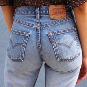 Vintage 80s Levi's 501 Button Fly High Waist Jeans
